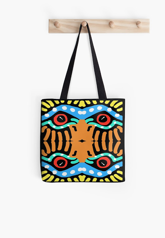 'War Eagle Totem ' Tote Bag by Shelli Fitzpatrick