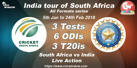 South Africa to host India in 2018 for 3-t20i, 3-odi and 5-Test series -