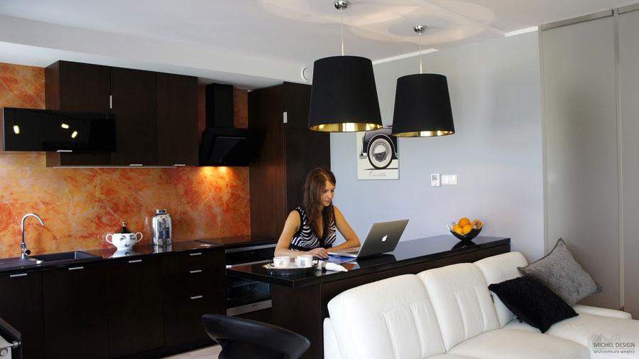 Small Studio Apartment With Elegant Black And White Interior Design