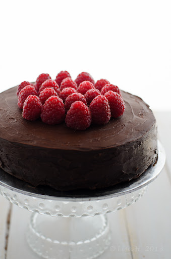 Raspberries Chocolate Torte