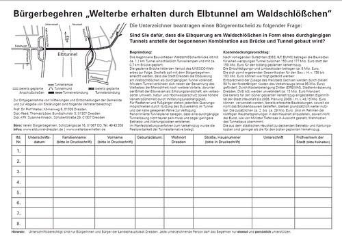 Bürgerbegehren Elbtunnel Dresden