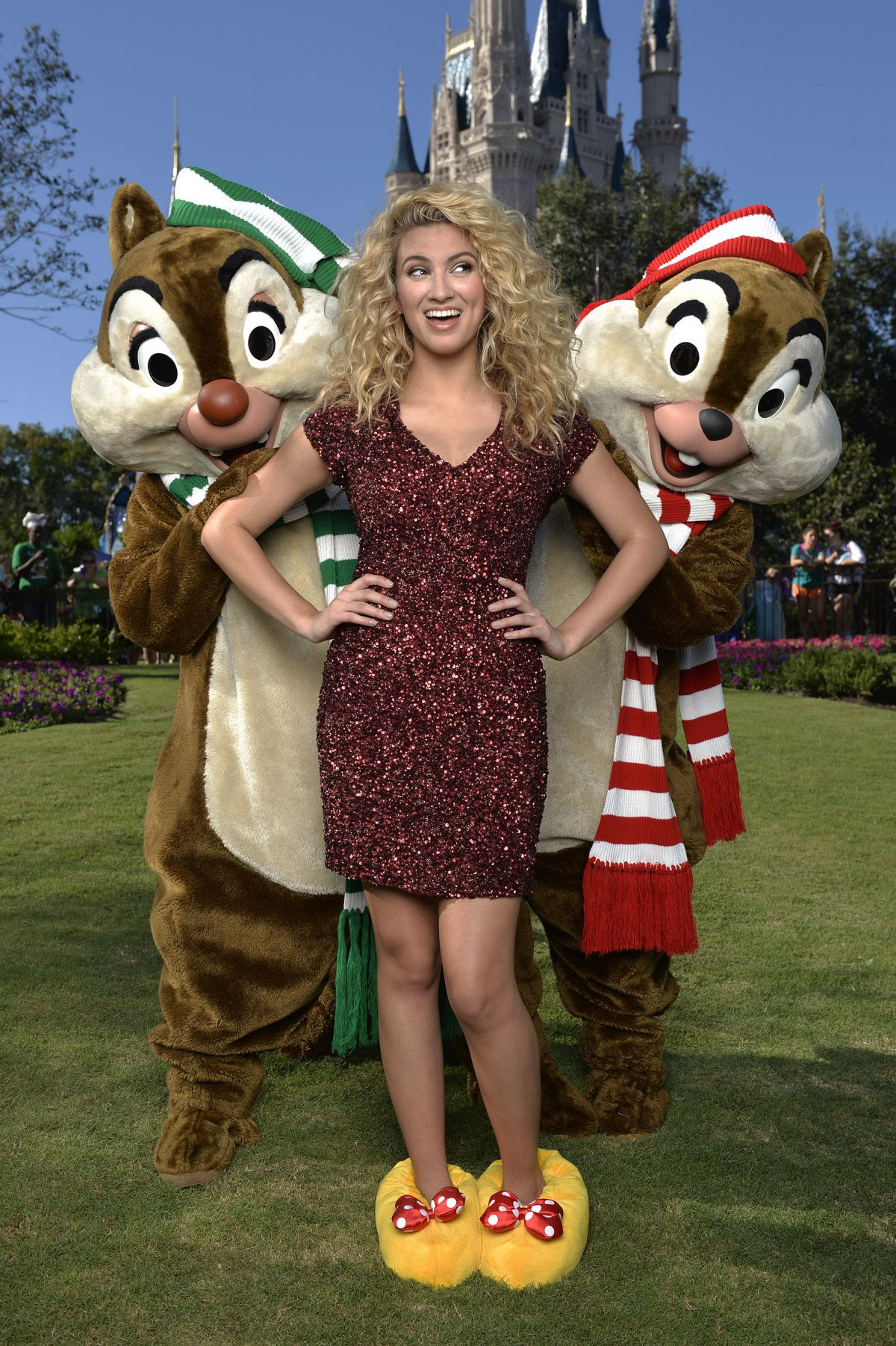 TORI KELLY at Disney Parks Unforgettable Christmas Celebration Taping in Lake Buena Vista 11/11/2015