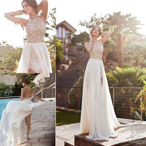 Cheap 2016 In Stock Summer Vintage Beach Empire Wedding