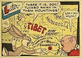 Bugs Bunny in Tibet 1946 comic: Bugs Bunny's Dangerous Venture