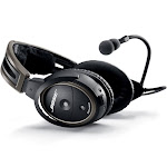 Bose A20 Aviation Headset with Standard 6-Pin Plug Cable, Black