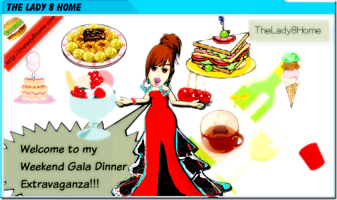 The lady8home dinner poster
