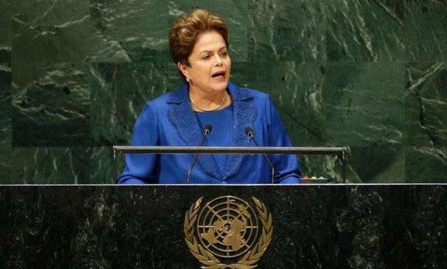 Presidente Dilma Rousseff discursa na ONU (Foto: Reuters)