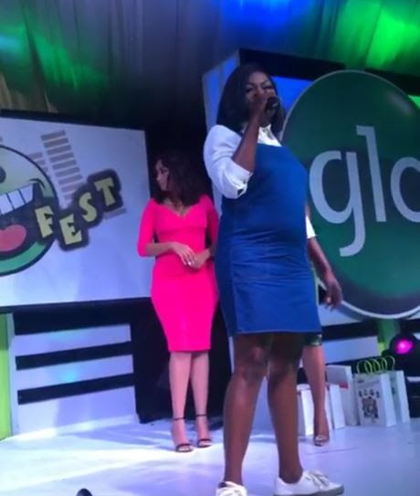 Yaaayyy! Funke Akindele is Pregnant with her first child...see her baby bump (Photos)