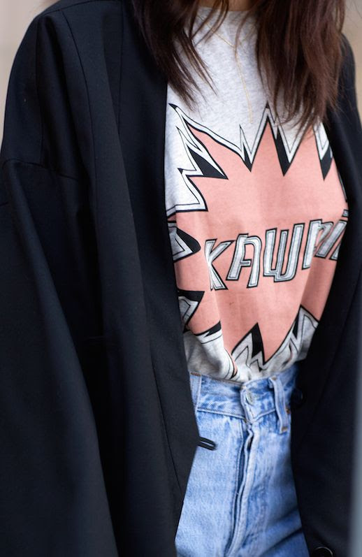 Le Fashion Blog Graphic Tee Black Blazer Via Always Judging =