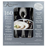 Reflections Silver Plastic Cutlery - 160 count