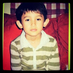 So cute! When he was 6 years old
