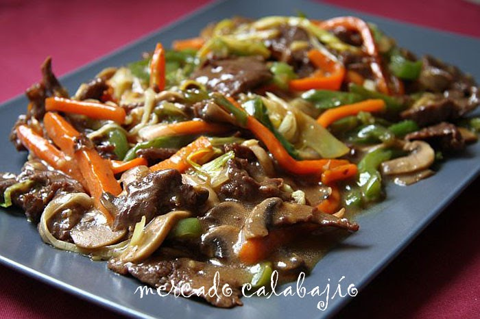 Ternera con salsa de ostras mercado calabaj o for Cocina wok segunda mano