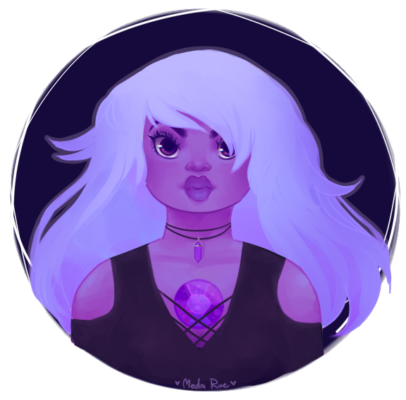 amethyst but slightly gothy?