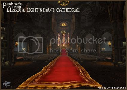 Postcards of Azeroth: Light's Dawn Cathedral, by Rioriel Ail'thera of theshatar.eu