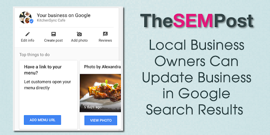 Google Allows Businesses to Manage Local Listing from Search Results