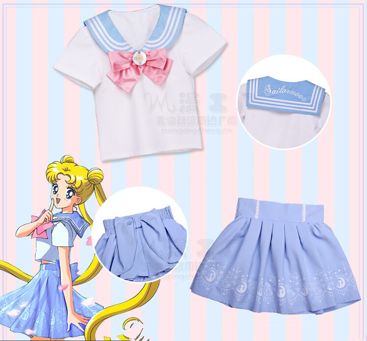 Hot New Sailor Moon Tralala Define Sailor Suit T Shirt Bow Skirt Cosplay Costume Free Shipping-in Clothing from Novelty & Special Use on Aliexpress.com | Alibaba Group
