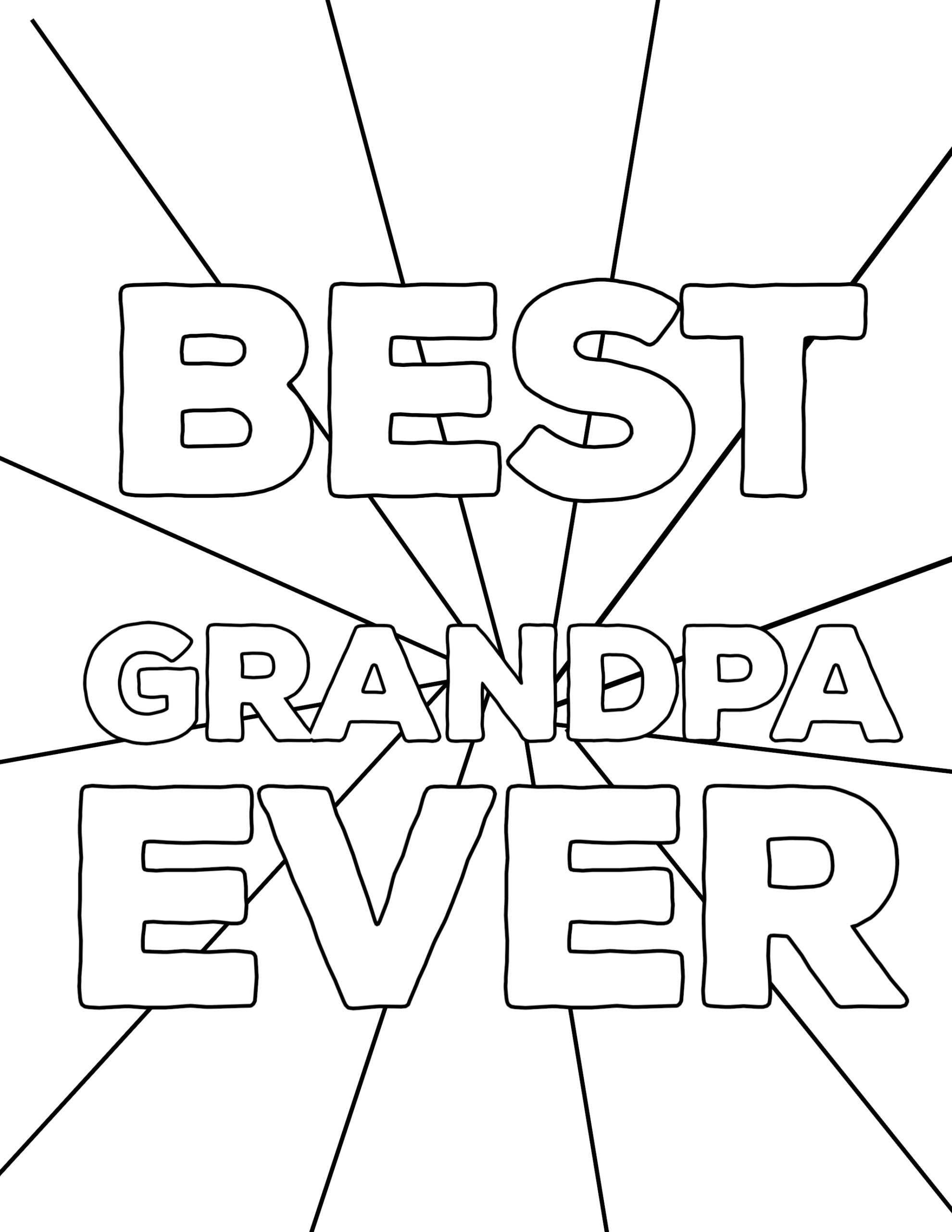 Best-Grandpa-Ever-Fathers-Day-Coloring-page.jpg 2,125 ...