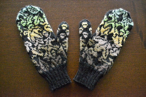 Leaves Mittens Front