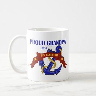 Proud Grandpa of a US Sailor mug