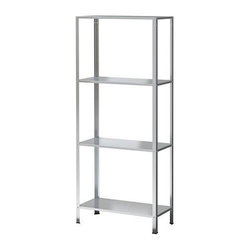 HYLLIS Estante IKEA Pode utilizar-se tanto no interior como no exterior. Os pés de plástico incluídos protegem o chão de riscos.