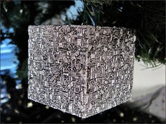 Borg Cube Christmas Ornament
