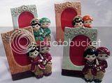 souvenir gypsum Pigura Kayu Pengantin Jawa