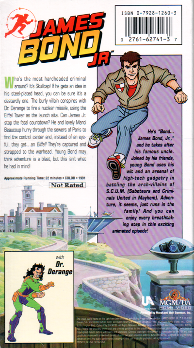 James Bond Jr Vol 8 back cover