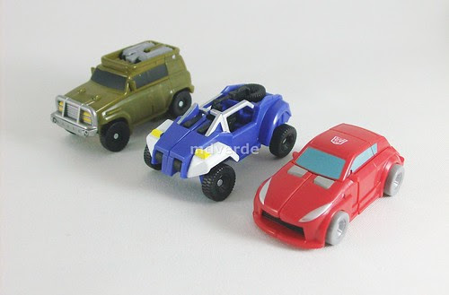 Transformers Minibot Attack Team Classics Henkei Legends vs G1 - modo alterno