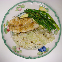 Seasoned Tilapia - Wild & White Rice w/Onion -...