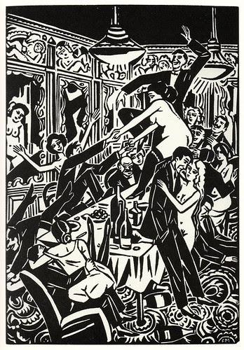 Graphic Novel illustration by Frans Masereel a