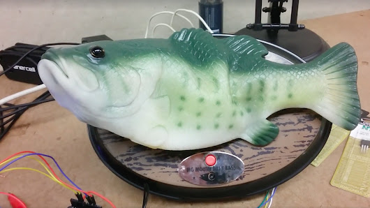 Man hacks Alexa into singing fish robot, terror ensues