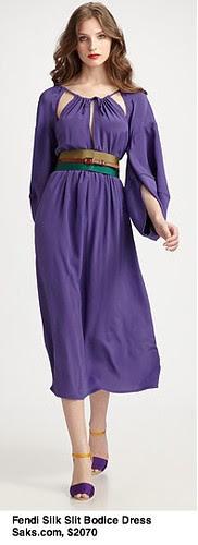Saks.com - Fendi - Silk Slit Bodice Dress