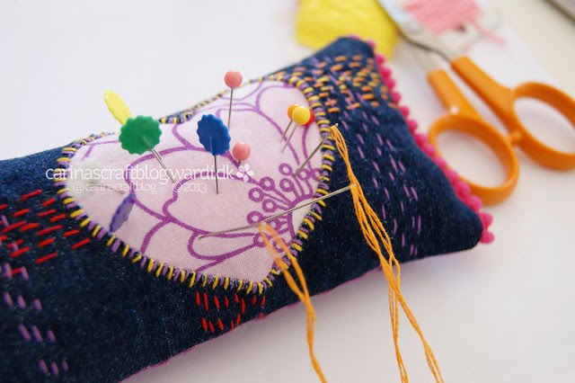 Embroidery tip: thread multiple needles