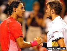 Rafael Nadal overcame Stanislas Wawrinka in an epic first set