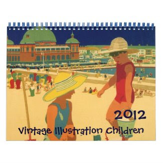 2012 Vintage Illustration Children's Calendar calendar