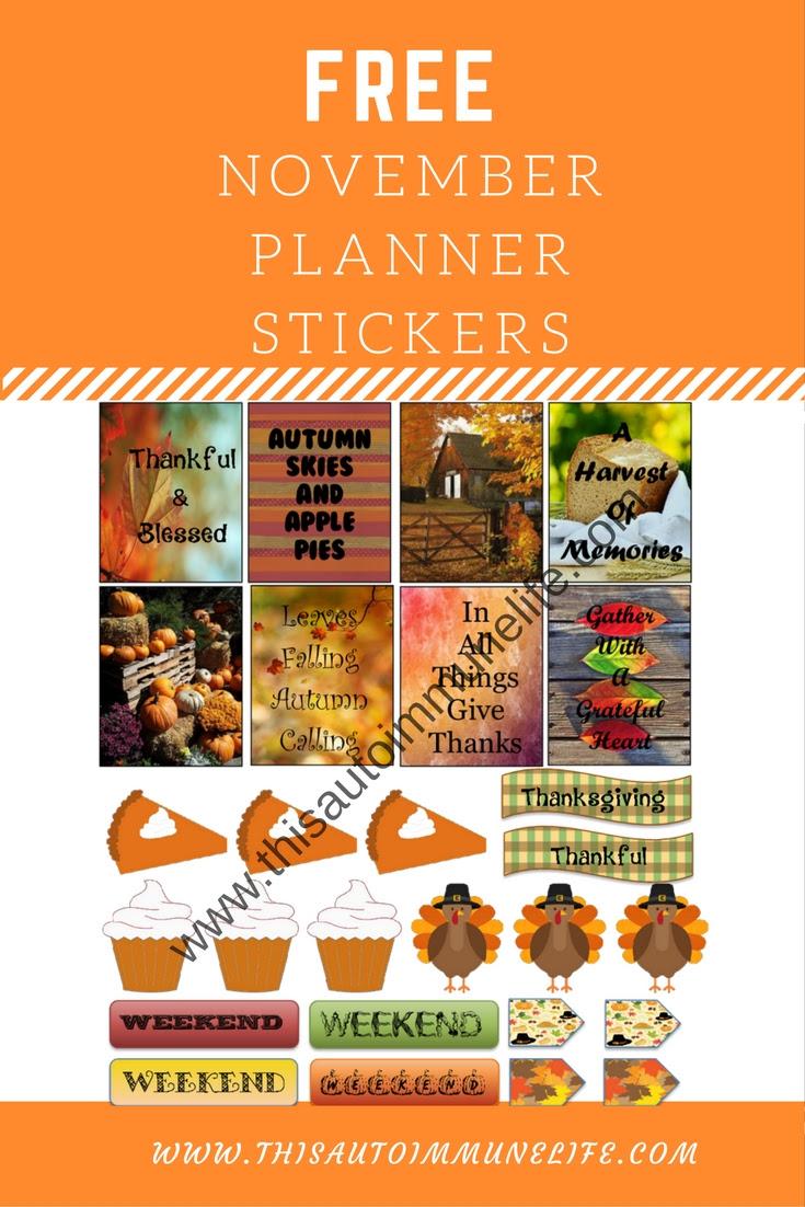 Free November Planner Stickers