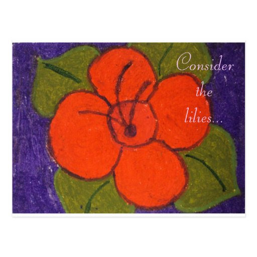 Consider the lilies Oil Pastel Flower Print Post Cards from Zazzle.com
