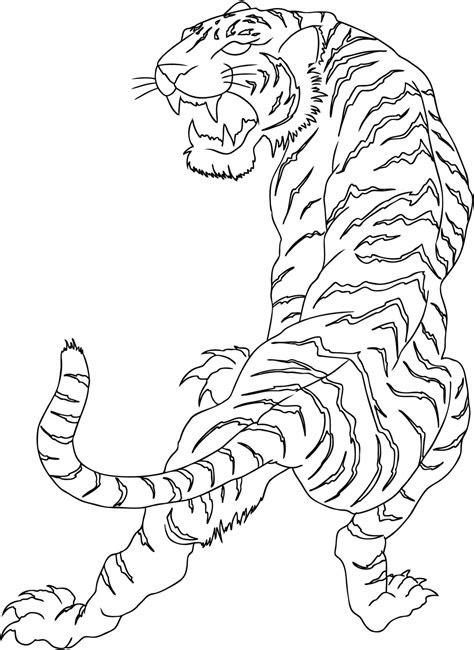 simple full size tribal tiger tattoo design tattooimagesbiz
