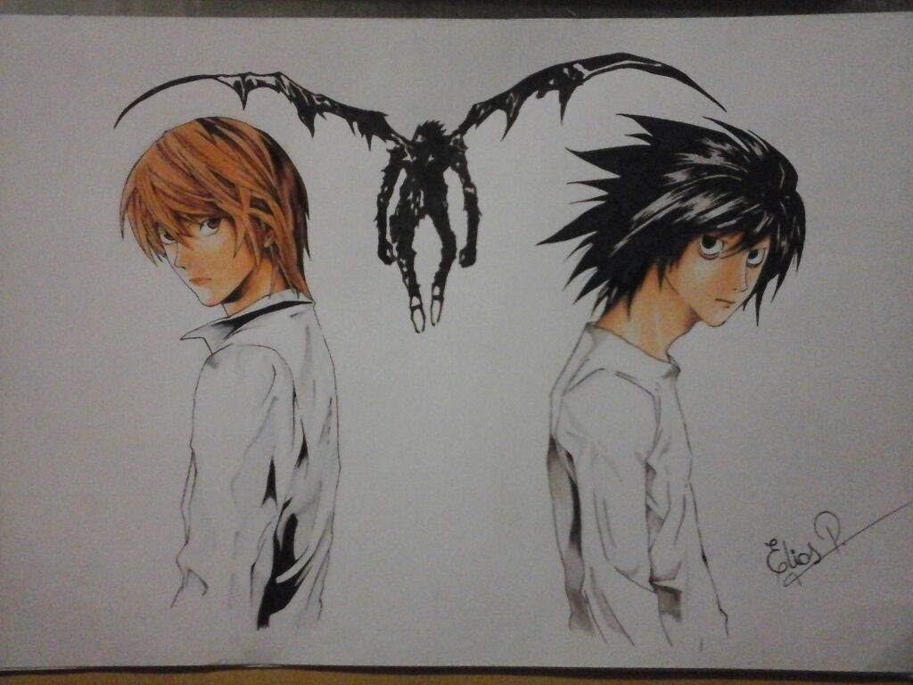 Death Note Para Colorear Dibujos Para Colorear