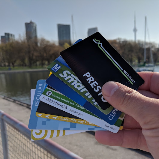 My growing transit-card collection