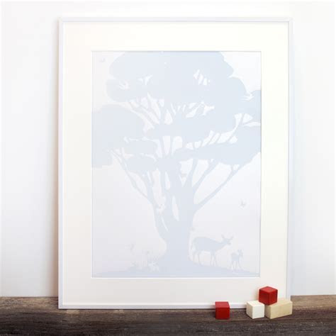 Woodland Family Tree Poster   Binth