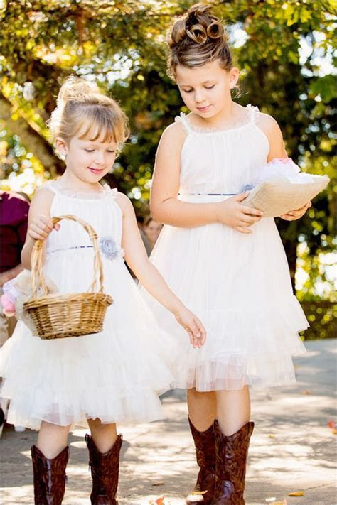 Flower girls, Cowboy boots and Cowboys on Pinterest
