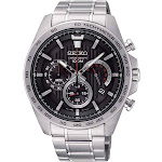 Seiko Mens Chronograph Quartz Watch with Stainless Steel Strap SSB299P1