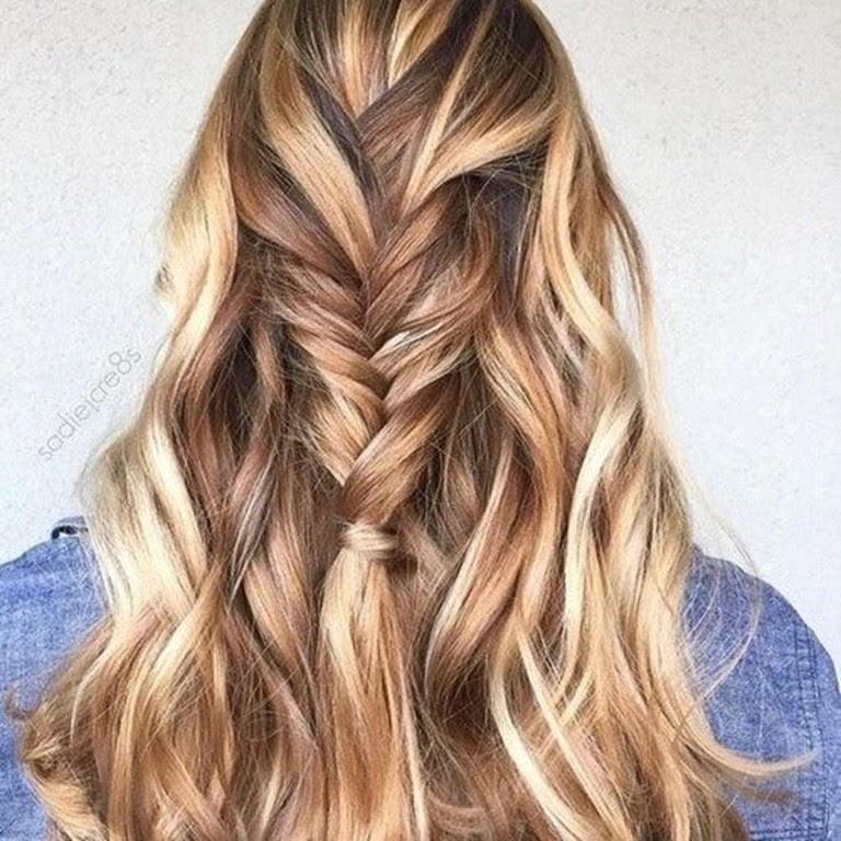 Blonde Haare Braun Färben Ombre