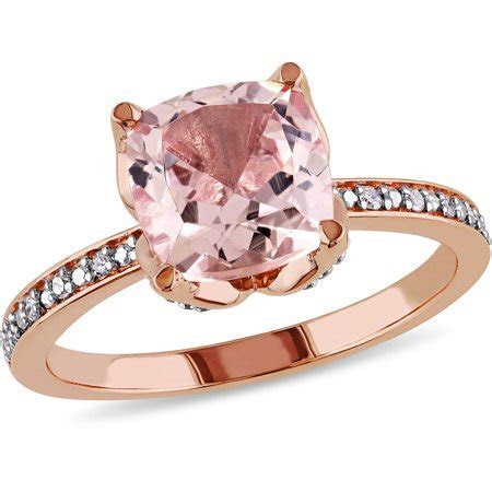 Tangelo   2 Carat T.G.W. Morganite and Diamond Accent 10kt