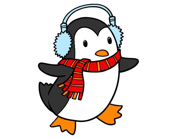 Dibujo De Pinguino Navideño Pintado Por Aleclawden En Dibujosnet El