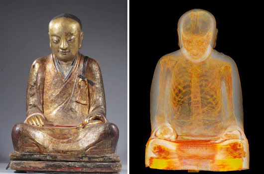 CT Scan of 1,000-year-old Buddha sculpture reveals mummified monk hidden inside • r/WTF
