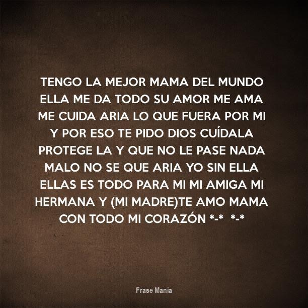 Cartel Para Tengo La Mejor Mama Del Mundo Ella Me Da Todo Su Amor