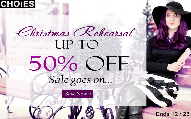 Christmas sale up to 50% off at Choies, free shipping