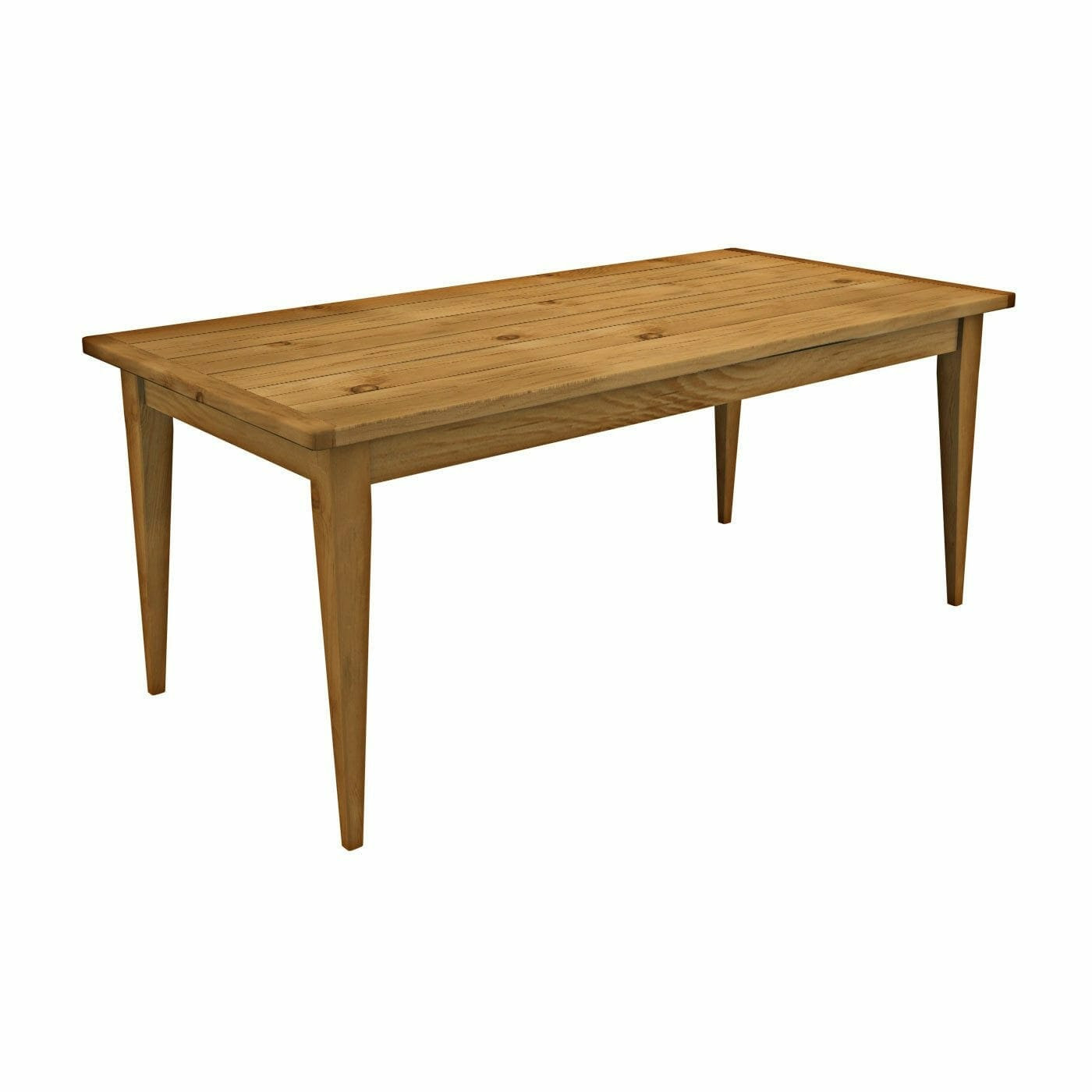 Tapered Leg Farm Table  Cottage Home